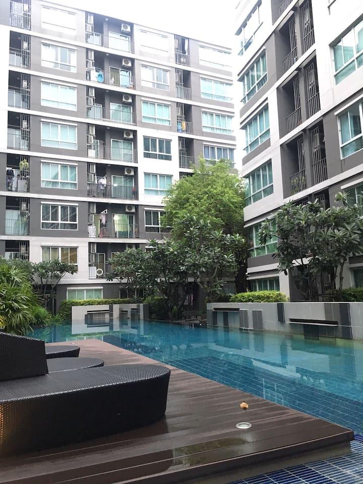 Swimming pool in condominium