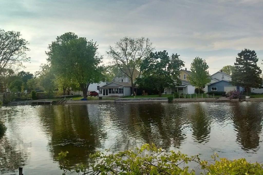 View from across Sawyer Creek