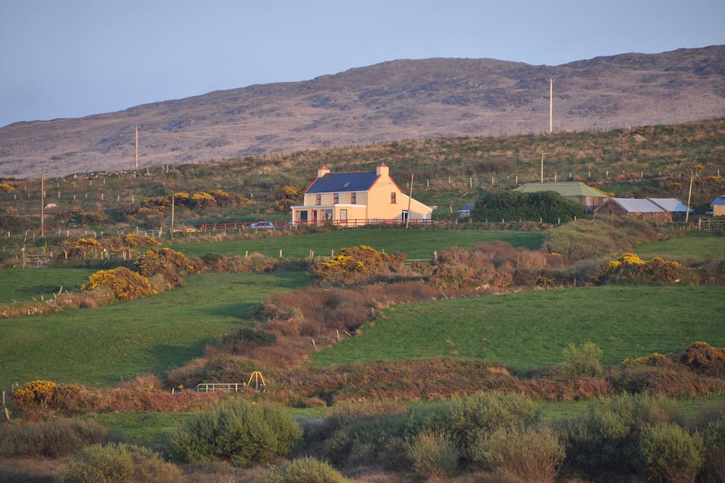 Cappa House as seen from Beara Way Walkway on the Beara Peninsula