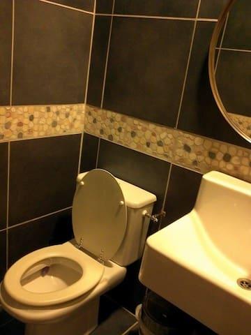 Ground floor toilet/utility room