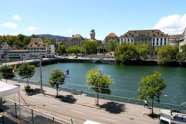 Central 2 room flat with river view - Zurich - Flat