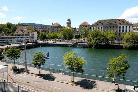 Central 2 room flat with river view - Zúrich