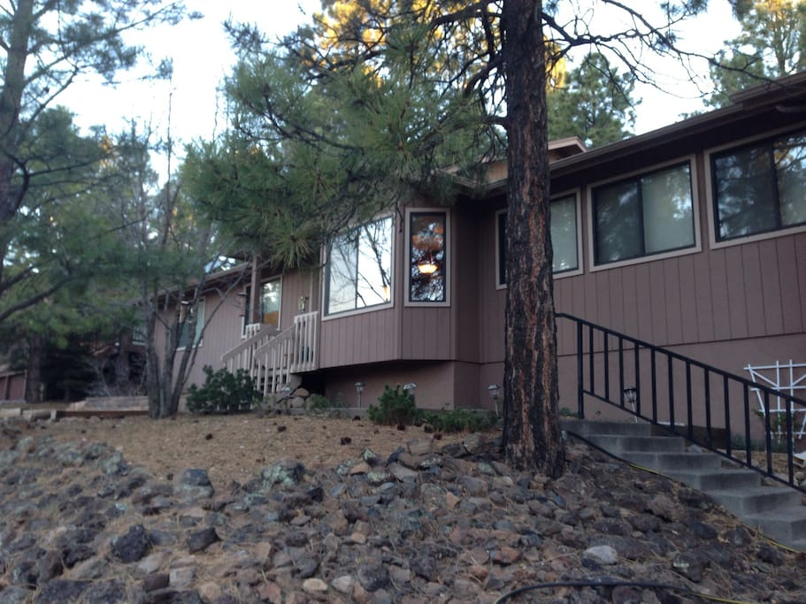 Nice home in the pines.