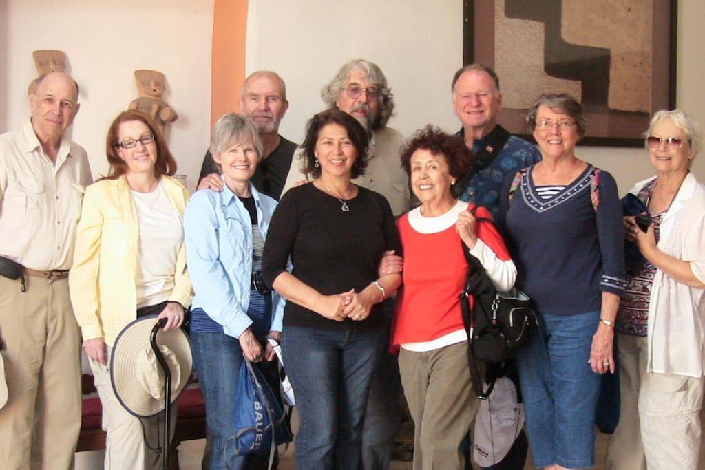Visita del grupo del Archaelogical Institute of America Tours 2013