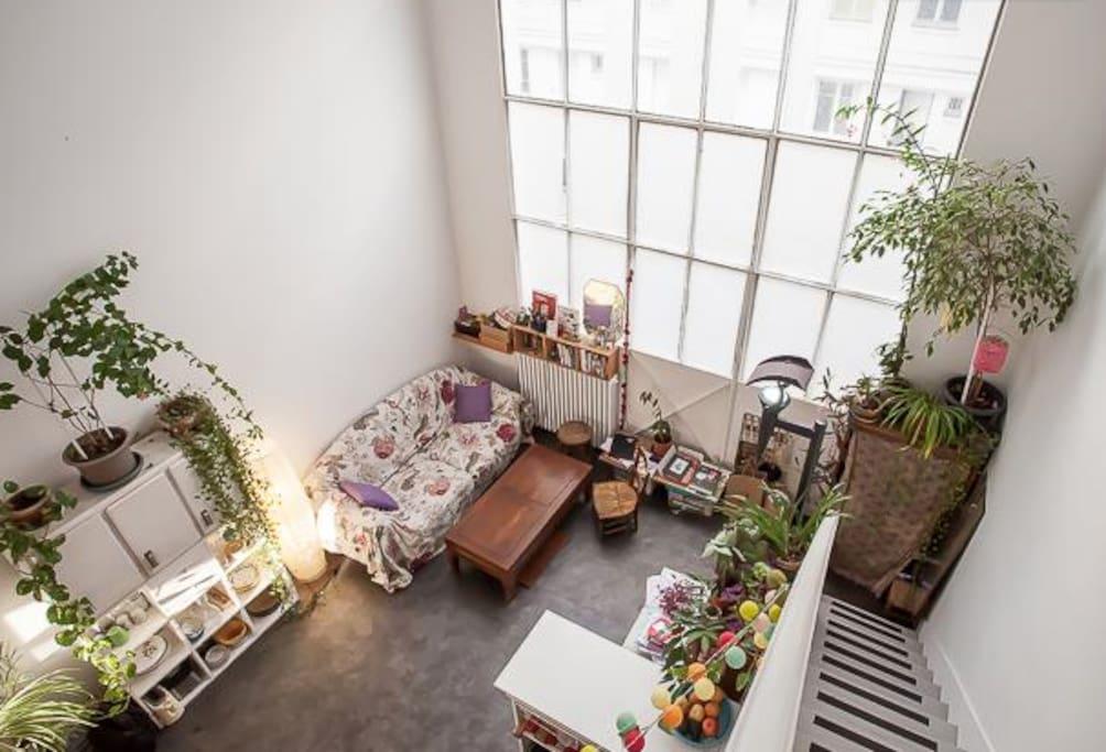 Loft vers montmartre paris 18eme appartements louer paris le de fran - Achat loft ile de france ...
