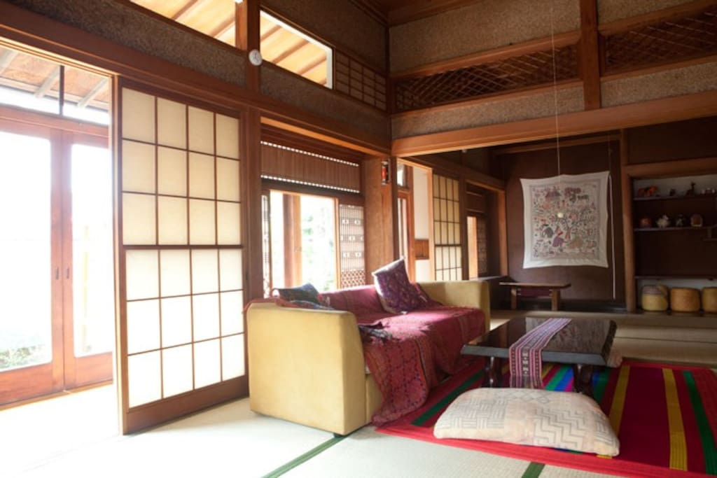 We don't have a bed . but you can using Japanese futon on Tatami. it's traditional Japanese style.