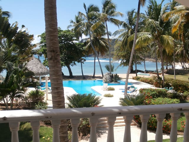 2 BR w loft,semi-private beach,pool - Las Galeras - Lägenhet