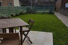 Own garden and patio