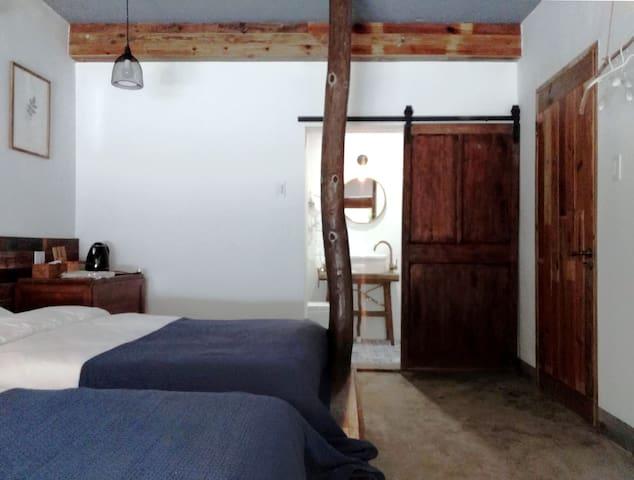 莫干山Cloud9·云外之二霄【碧霄】在露天浴缸与自然亲密接触的榻榻米房间