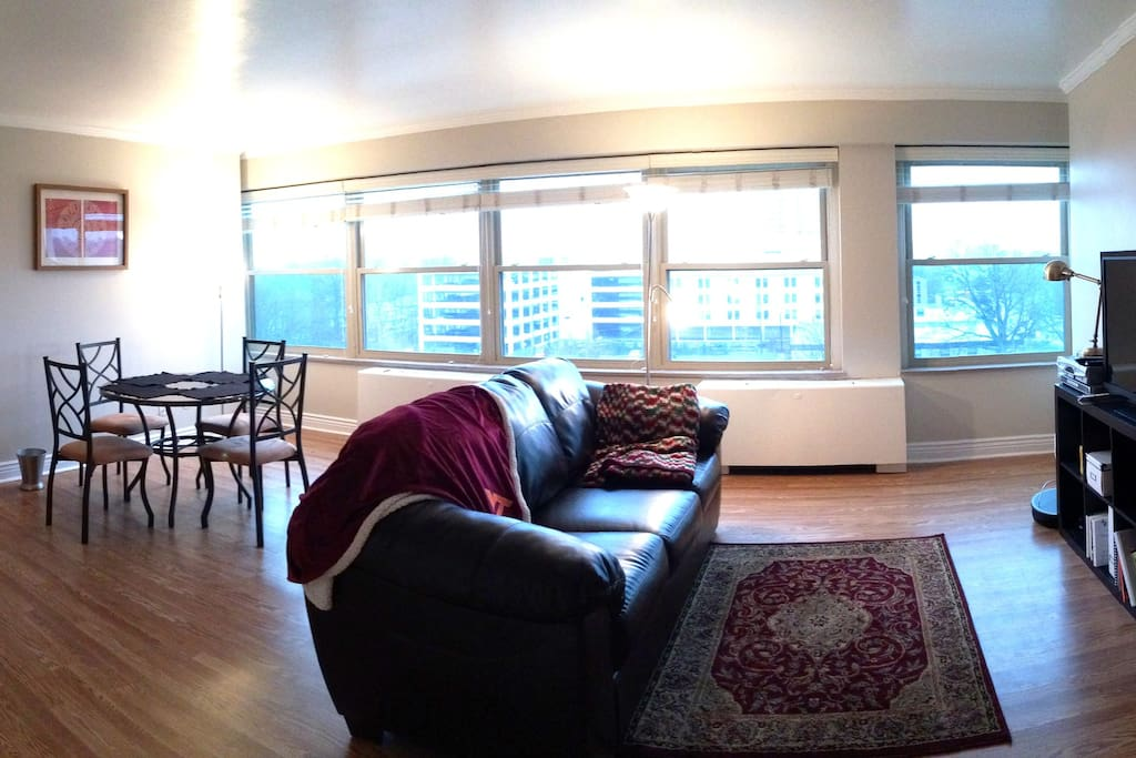 Contemporary open living area