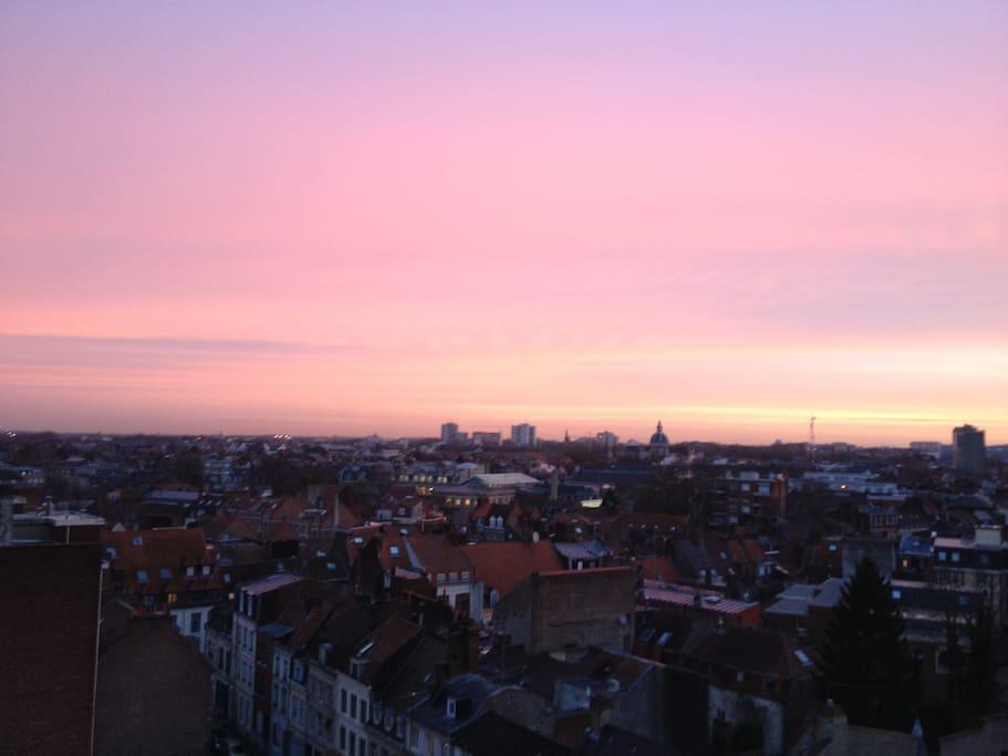 Vue au lever du soleil / Sunrise view