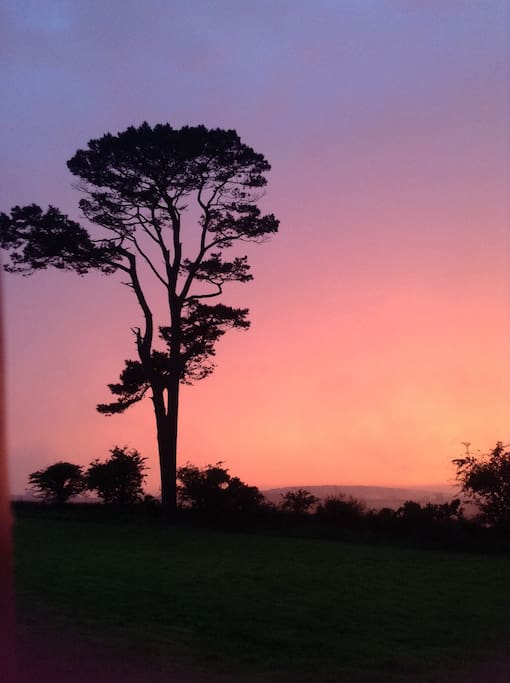 Sunset over Pendower