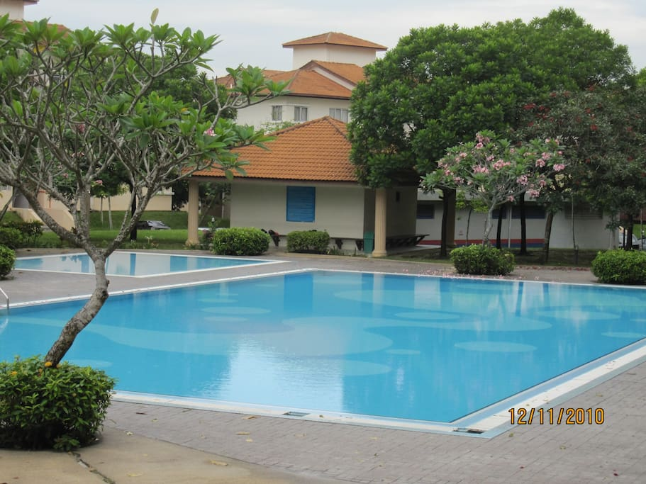 Adult and kids pool available to guests.