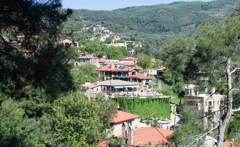 Doğayla baş başa dağ evi
