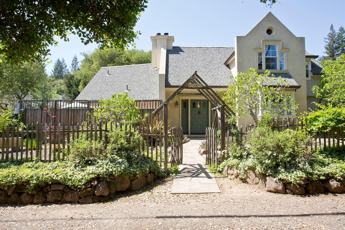 Rockrose Cottage Sonoma is tucked away in a very quiet yet convenient neighborhood.
