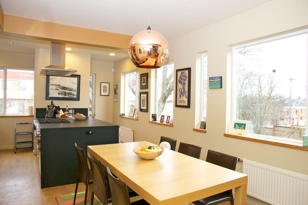 Eat in kitchen with a table that seats six