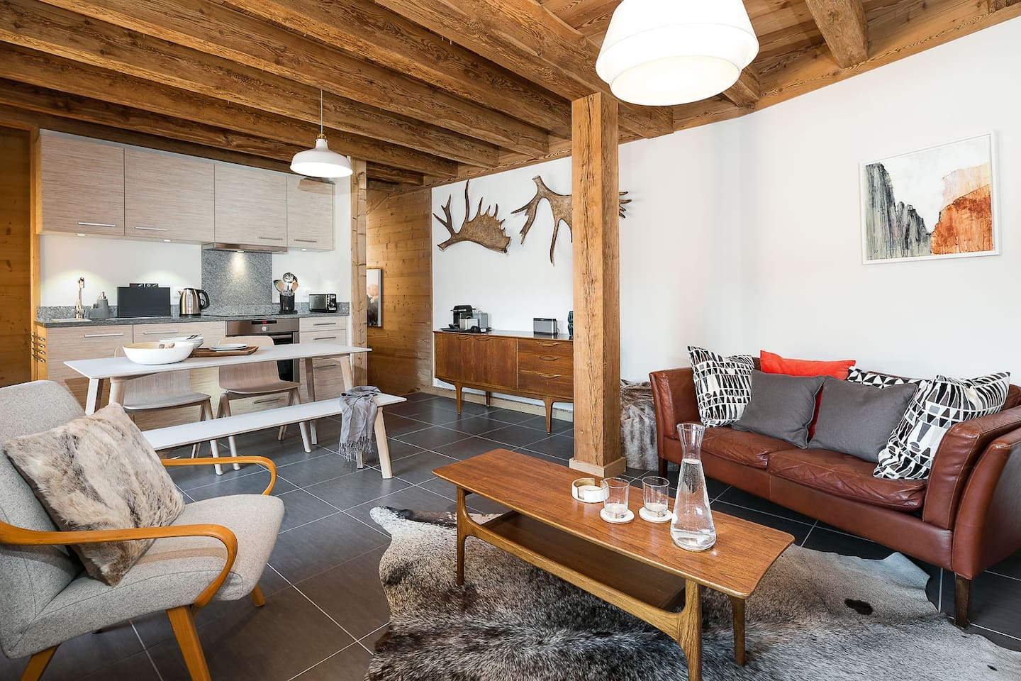 • Scandinavian-chic open plan living •
