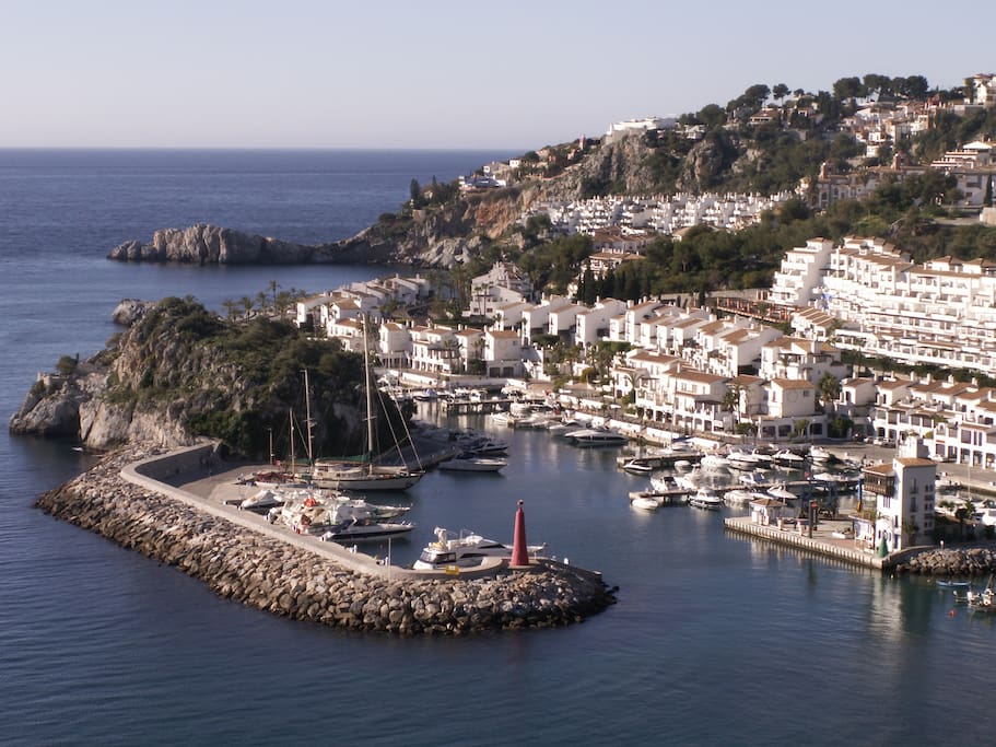 Marina del Este with Marina Playa in the background