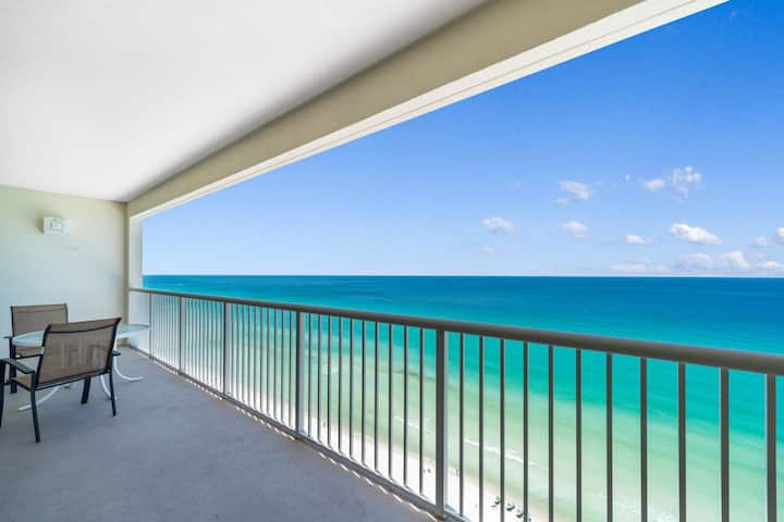 New Listing! Spectacular beachfront condo on the 19th floor. Full kitchen, huge master.