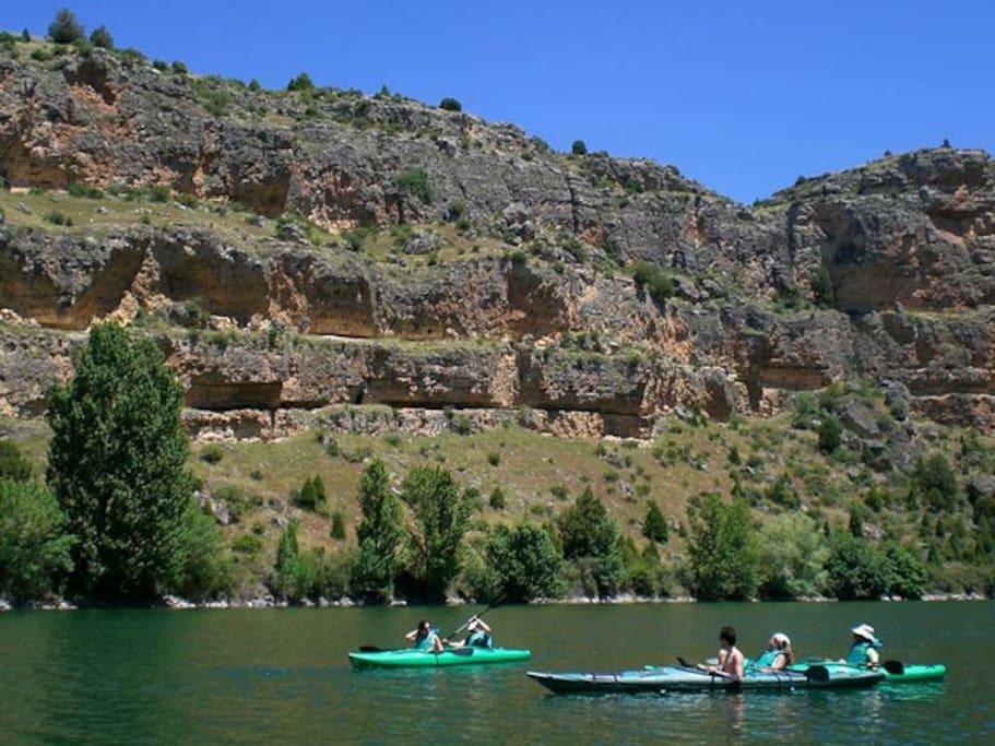 piragua por el Río Duratón