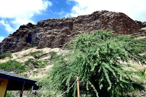 Fantastisk udsigt over havet og klipperne ved Ma'ili Point