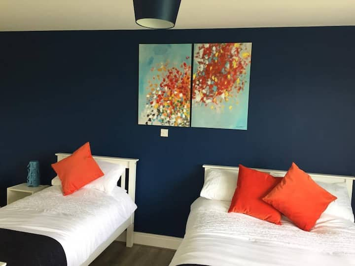 ★Family/Double/Twin room with lake & mountain view