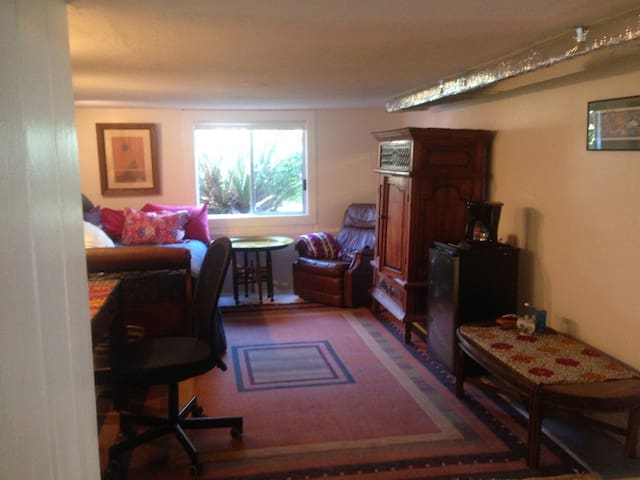 Peaceful large Room with bath. Separate entrance.