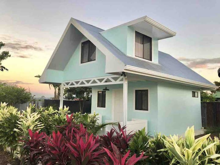 Two story house with Arenal view and pool & AC