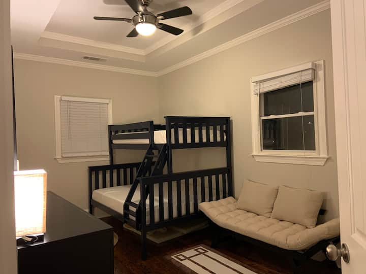 Grant Park Guest Bedroom Twin over Full Bunk Bed!