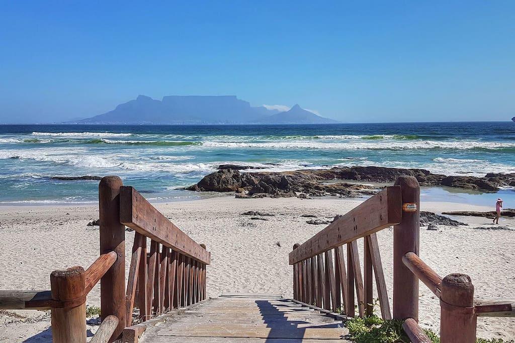 Blouberg beach is 10 meters away ....