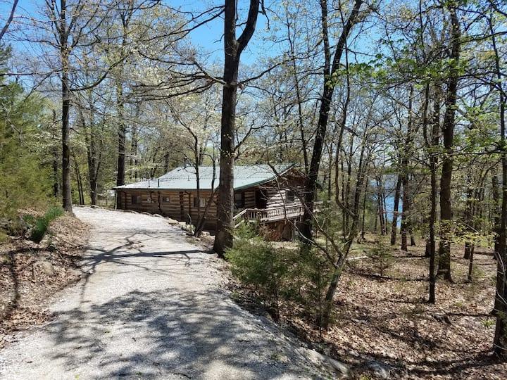 Latham's Log Cabin-Lakefront-Swim Deck-Wild Life