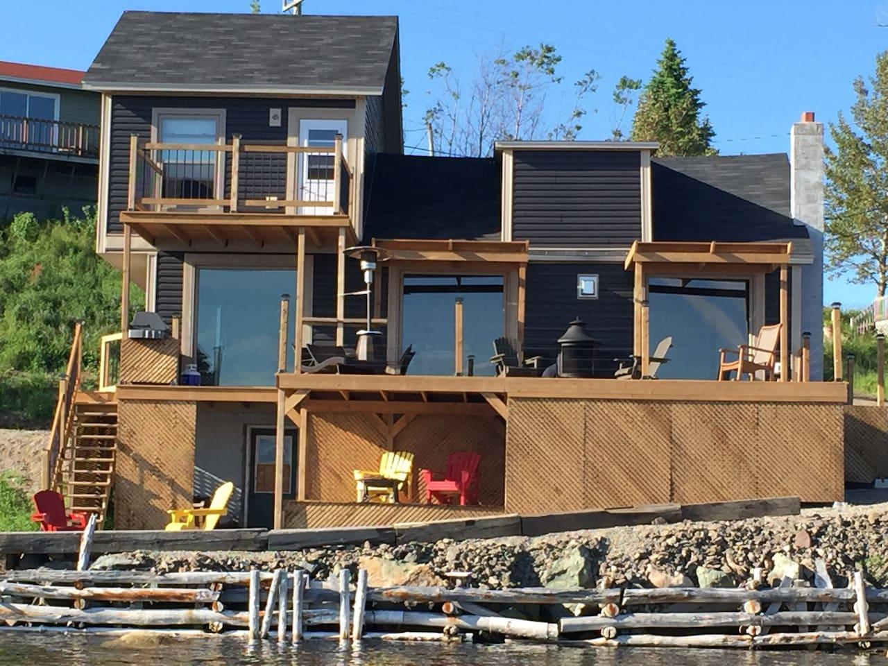 BIG deck and views galore!
