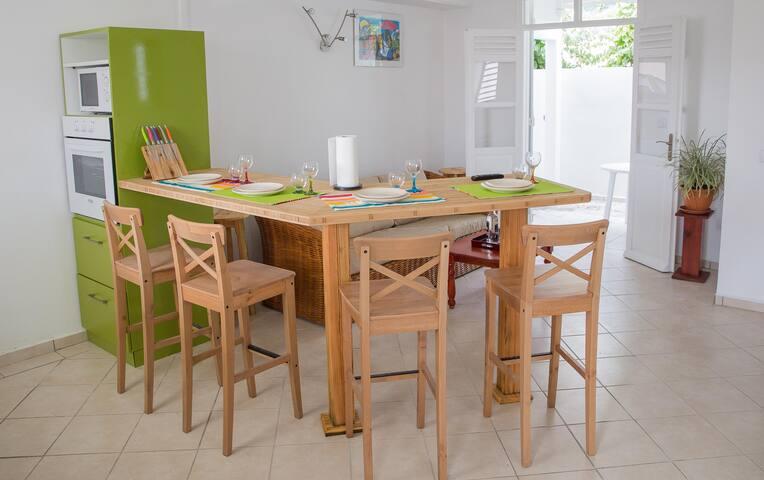 Appartement Pistache - Location vacances au Moule - GP - Daire