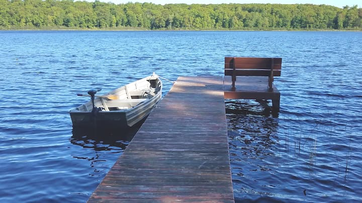 Sue's Place on Rice Lake Fishing Boat Included
