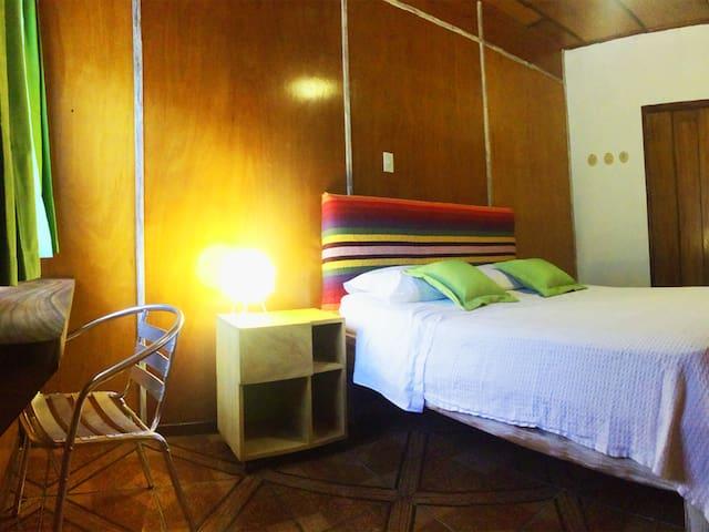 Queen bed room in boutique hotel