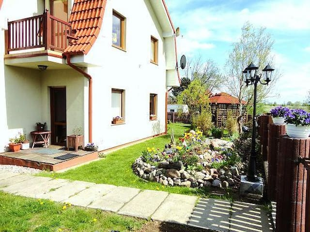 Holiday apt 150m from the beach on the Polish Baltic coast, in the quiet Baltic resort