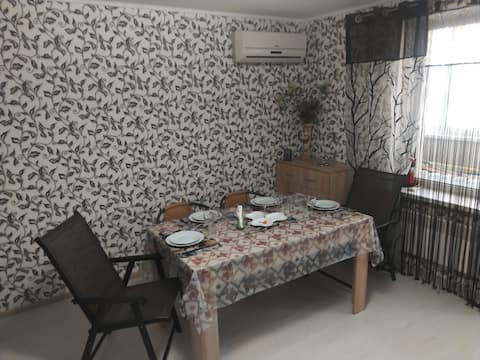 Apartment with kitchen and 3 beds for 3-6 person