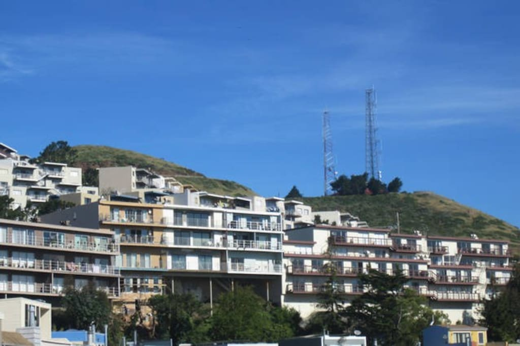 View from across the street, Twin Peaks inspiration for David Lynch's miniseries.