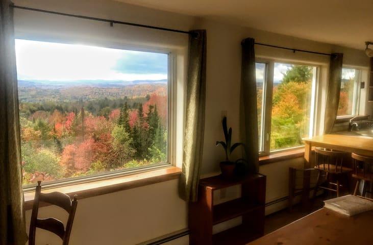 Views, wood floor,  3 miles to town