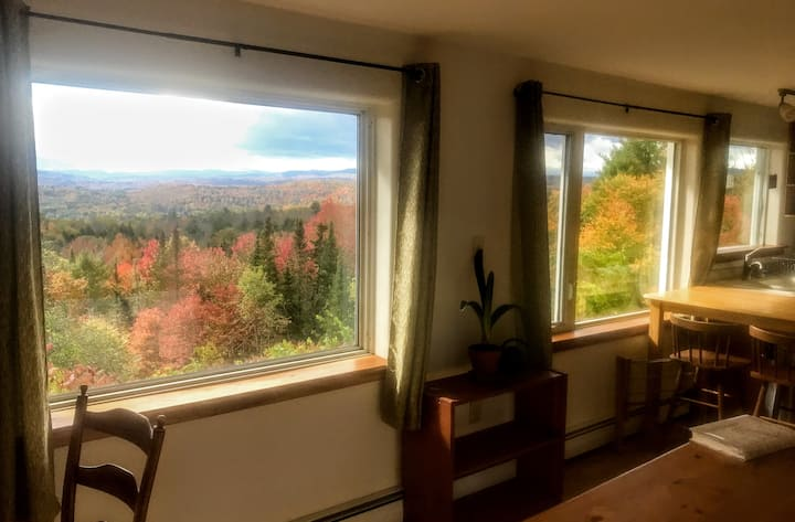 Views, wood floor,  3 miles to downtown Montpelier