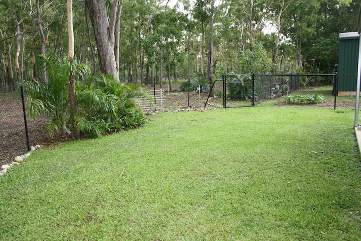 front lawn ... greener in the wet season