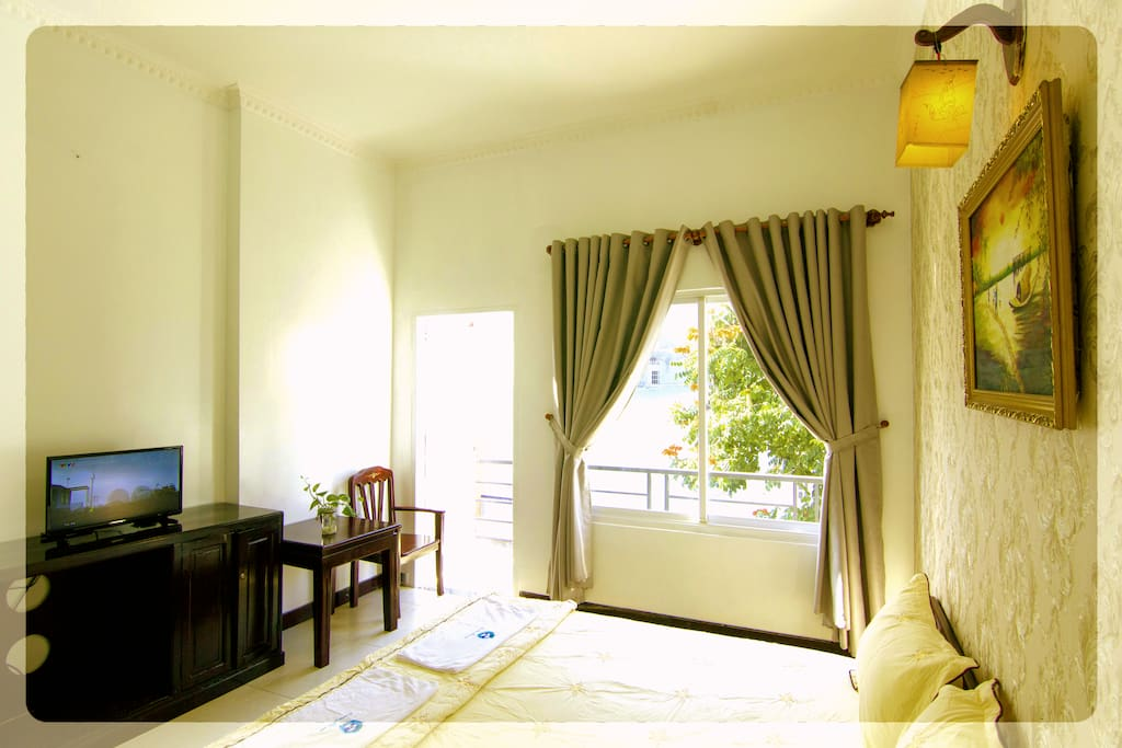 Bedroom 302 with a comfortable double bed for great night's sleep