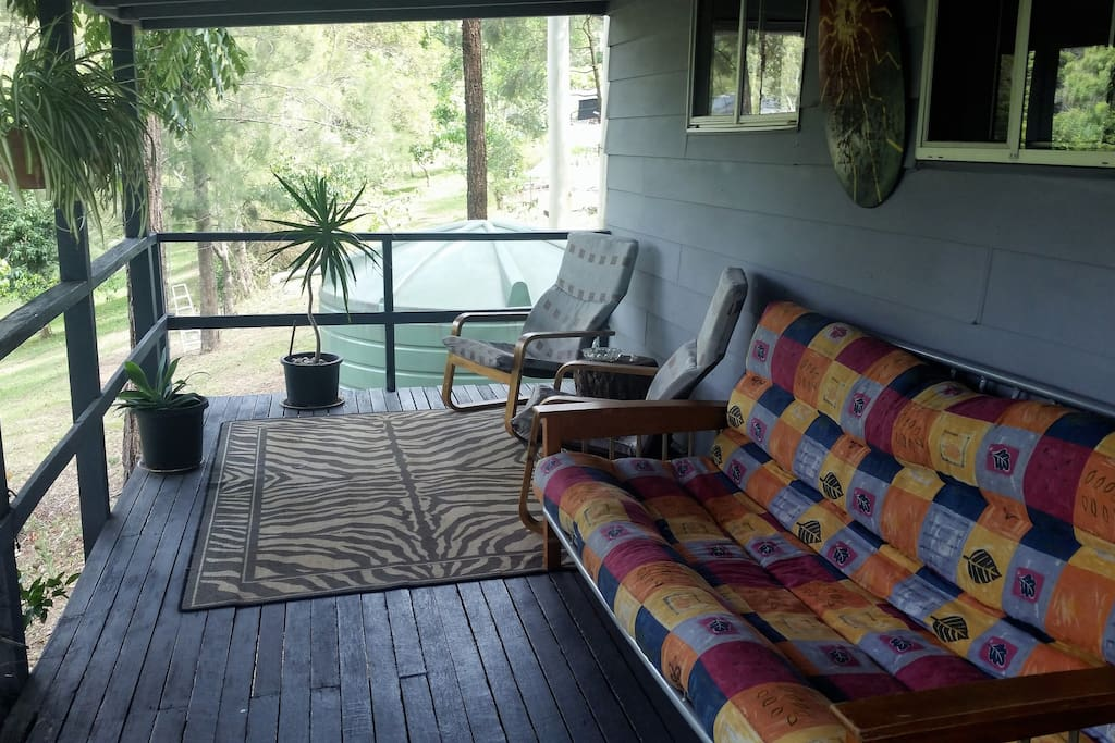 Plenty of sitting space on the deck to enjoy the view or cook a BBQ.