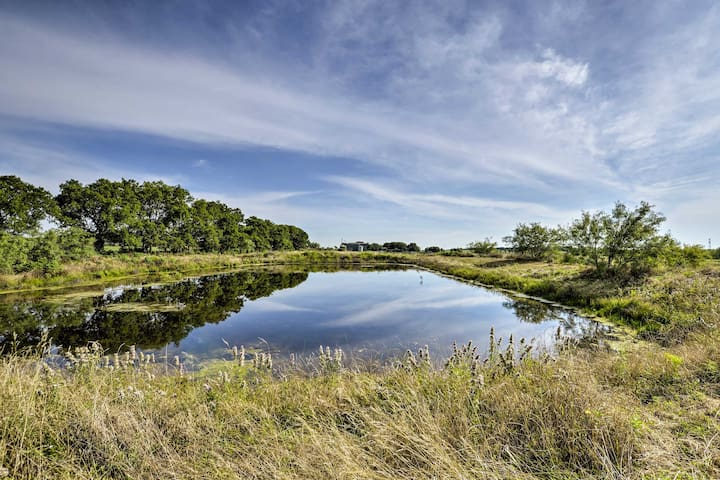 Walk along the private acreage and check out the pond.