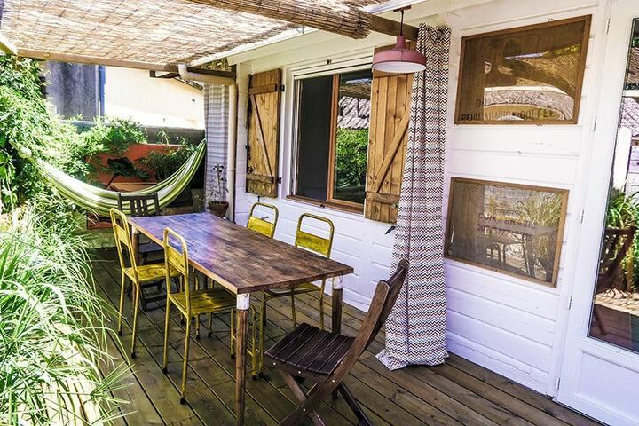 Maison de charme en bois/Hourtin(Lachanau)