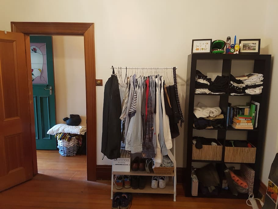 Racks / shelves - space will be cleared for all your things