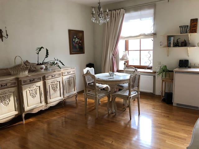 Shabby chic appartment with river view