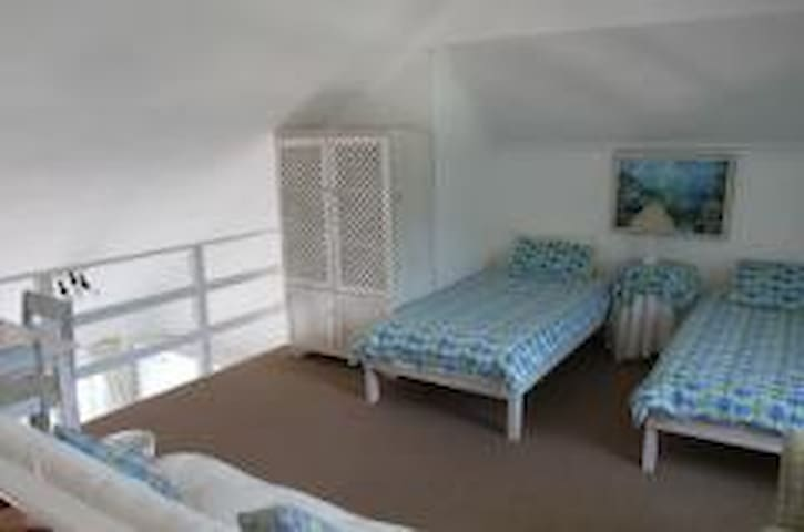The upstairs loft room - 3rd bedroom