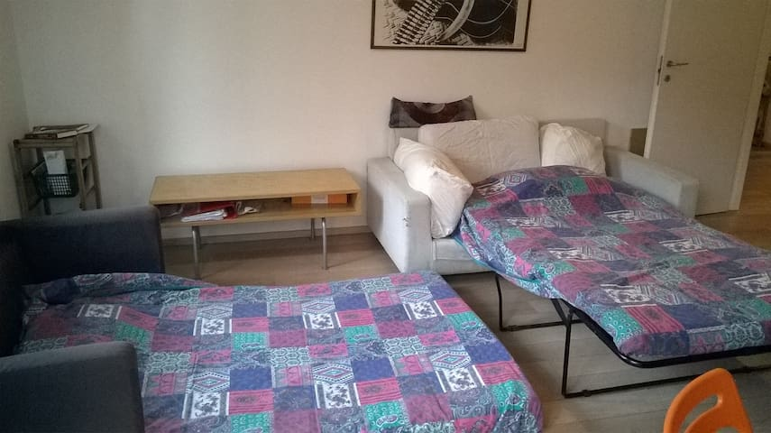 bright private room 25 min from center-near metro - Milaan - Appartement