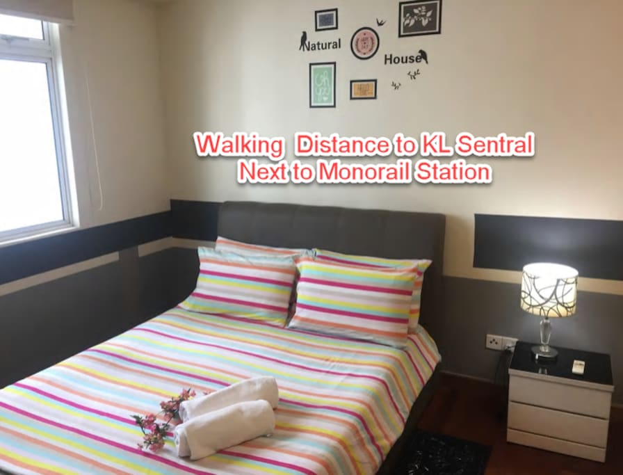 KL sentral, Brickfield Whole apartment with 2 bedrooms + 2 Bathrooms Free WiFi, Swimming pool for adult and kids